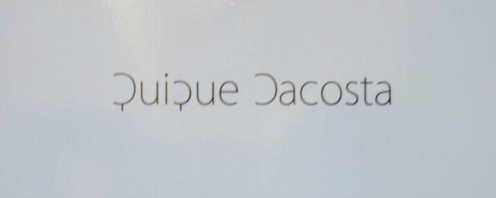 Quique Dacosta Restaurante