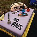 Gâteau maquillage en pâte à sucre pour les 10 ans de ma cousine chloé