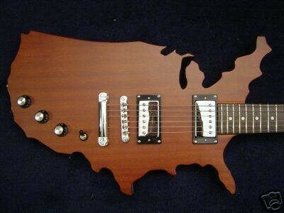 Gibson USA map reissue années 80