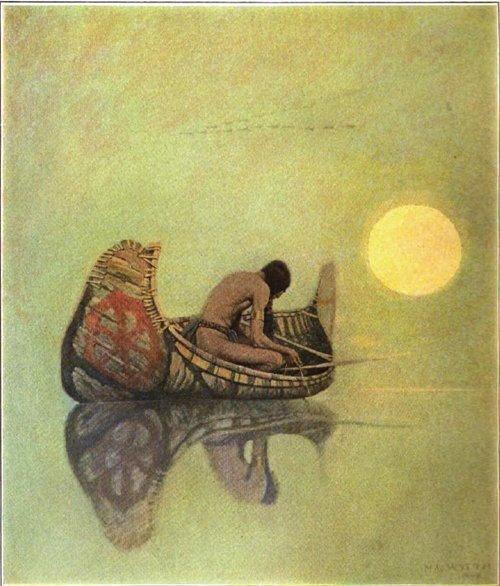 N C Wyeth the silent fisherman