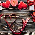 Saint valentin bougie