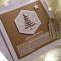 Carte sapin de Noël fil and kraft Marimerveille N°5