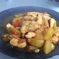 Curry de poulet au courgettes