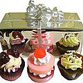 Coffret trio de savons cupcakes