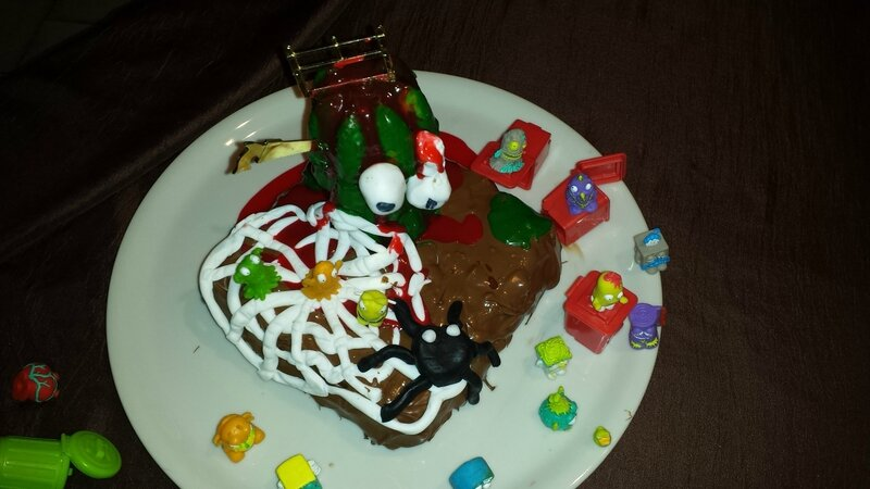 Gâteau Trash Pack vue de dessu