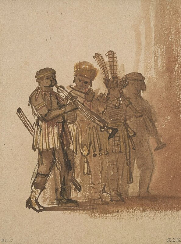 Rembrandt_Four-Musicians-with-Wind-Instruments