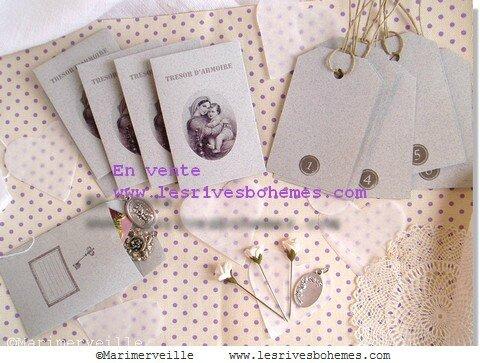 Marimerveille pochettes trésors d'armoire