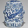 A blue and white garden seat. late ming dynasty, 16th-17th century