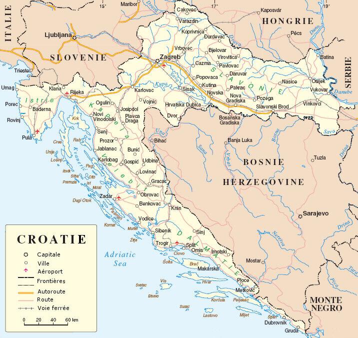 carte-croatie