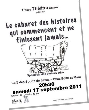 Affichette spectacle Ados 17 sept 2011
