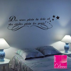 stickers citation ma d co stickers. Black Bedroom Furniture Sets. Home Design Ideas