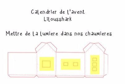 calendrier de l'avent maison lumiere