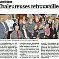 Le noël des anciens à la mairie de cunelières.