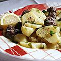 Batata baida marka- pommes de terre sauce blanche aux boulettes