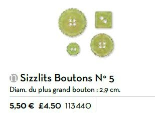 p191 sizzlits boutons