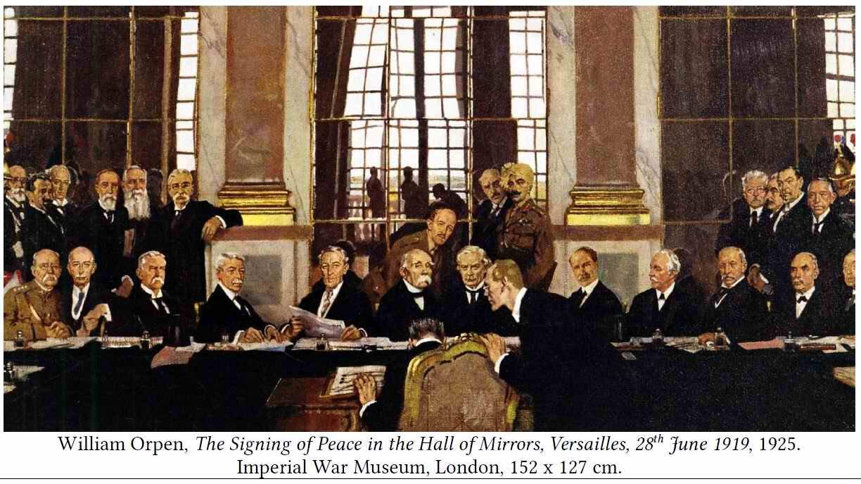 28 juin 1919 : signature du Traité de Versailles - Grande Guerre :  territoriaux bretons et normands du 87 DIT