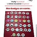 Vente badges l'univers de fluffy