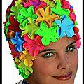 Bonnet de bain fleuri - fashy
