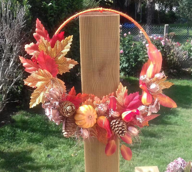 couronne feuilles d'automne