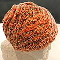 Bonnet Swirl Hat Orange