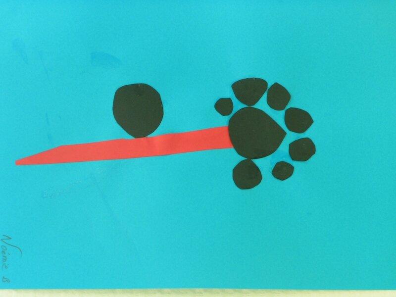 190_Composition abstraite_A la manière de Bleu II de Miro (11)