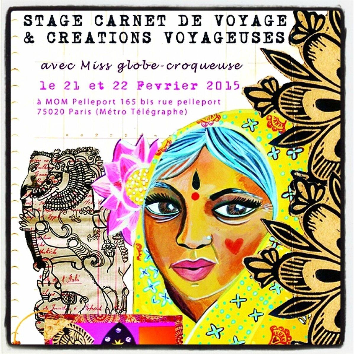 extrait affiche stage carnet voyage paris fev2015