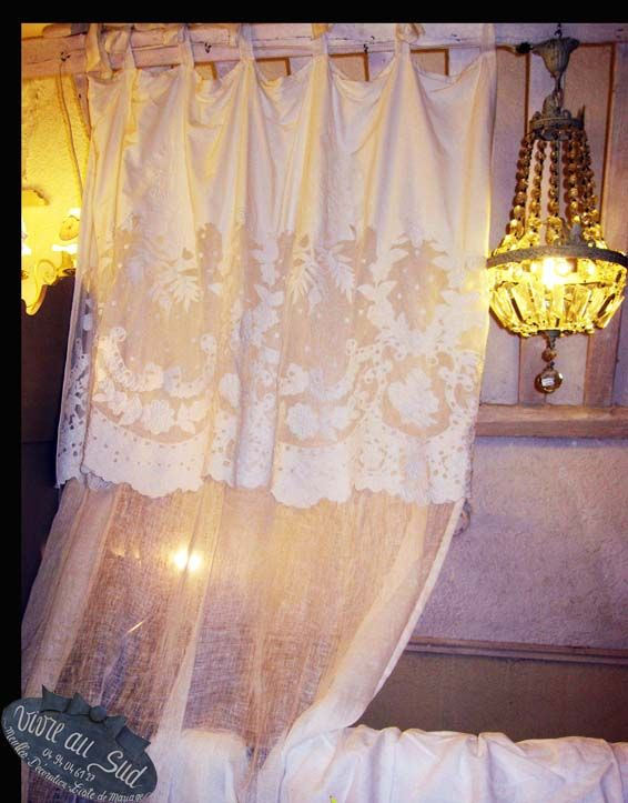 rideaux voile de lin vivre au sud. Black Bedroom Furniture Sets. Home Design Ideas