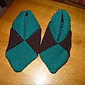 chaussons 8 carrés taille 39