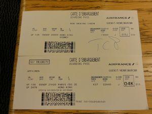 Cartes d'embarquement