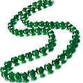 A fine jadeite bead and diamond necklace
