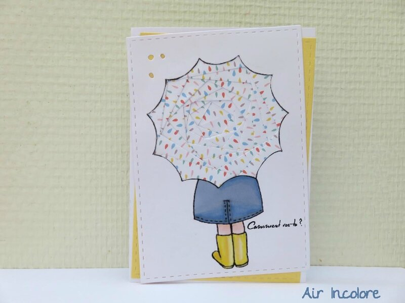 Rainy Happy Iris Folding Card. Air Incolore