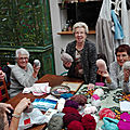 Après midi tricots-papotage.
