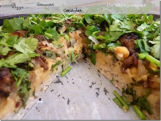 Pizza au houmous 2