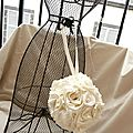 bouquet mariee boule original bouquet sac ivoire
