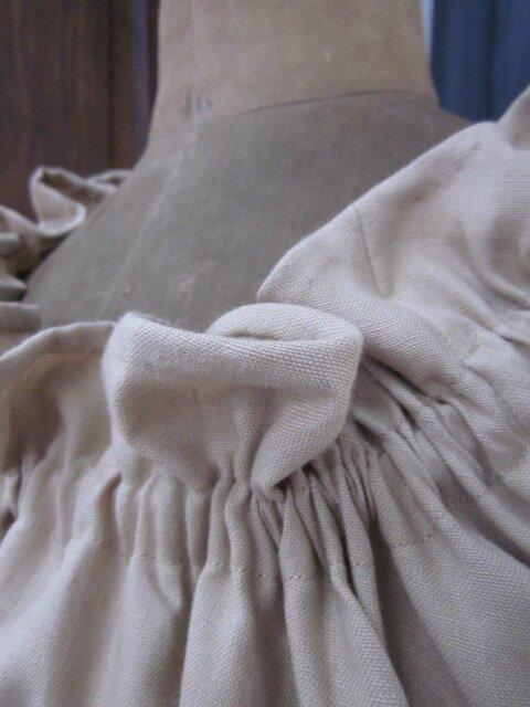 Robe ALBANE en lin beige (6)