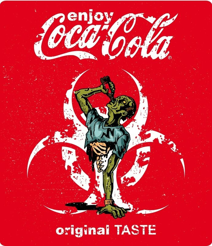 label - coca cola - zombie - Halloween - Biohazard - d
