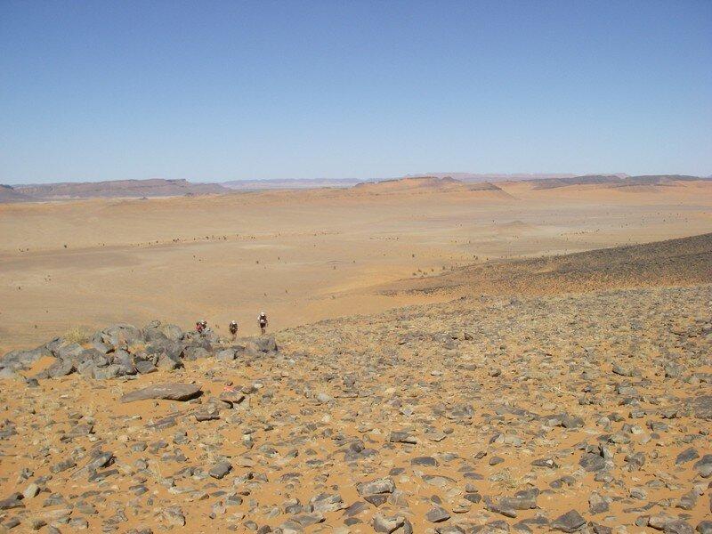 Fin de la descente du Jebel El Oftal