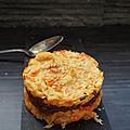 Parmentier de porc presque laqué au céleri et aux carottes