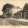La mise en service de la gare de trans en 1864