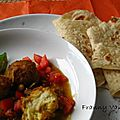 Chapatis au cumin et koftas de légumes au massalé( la recette)