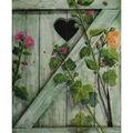 Volet aux roses trémières