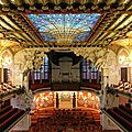 Mon top 10 architecture art nouveau: n°4: le palau de la musica (barcelone, espagne)