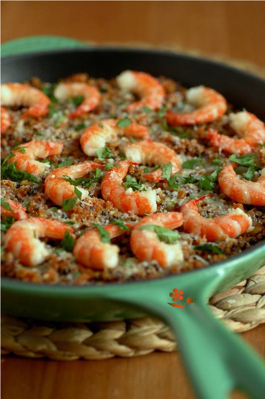Poêlée quinoa-tomate-épices-crevettes_1