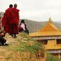 Les toits du monastere de Tongren