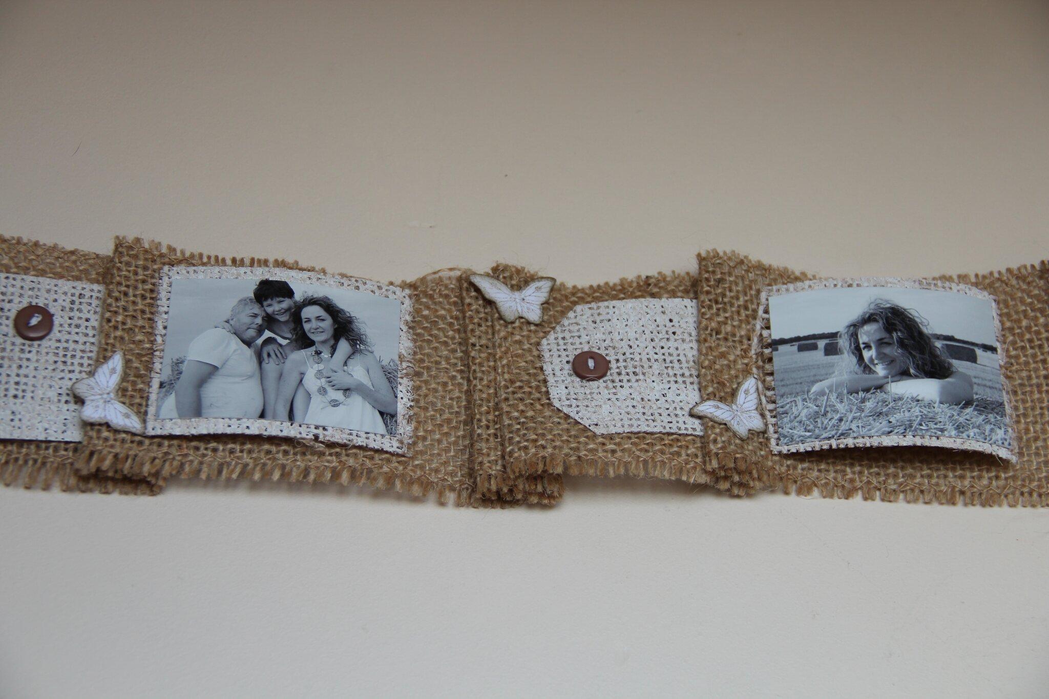 Bobine Scrappée avec son mini sur toile de jute (12)