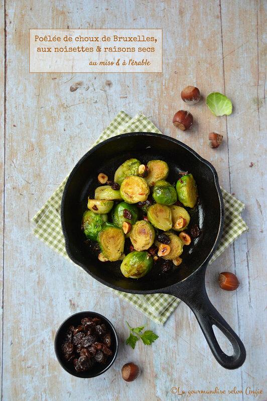 poêlée de choux bruxelles miso érable vegan sans gluten sans oeuf sans lactose (1)