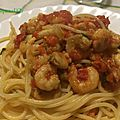 Spaghettis aux crevettes et fenouil sauvage-les recettes de enzo