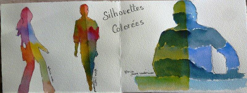 silhouettes colorées