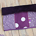 Snood violet fille