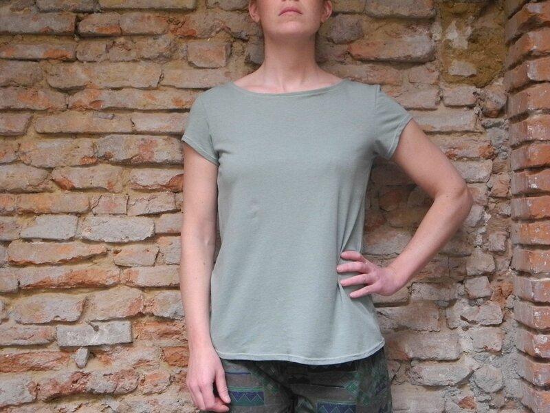 Tee-Shirt Mondrian - Couture Jersey & Crochet